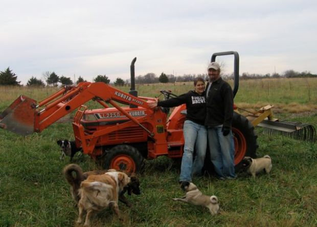 Ken, Katie, the Dogs and the Kubota L2250